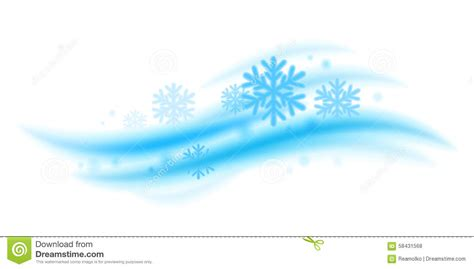 Cool Fresh Image by Cool Fresh Mint Wave With Snowflakes Vector Stock Vector