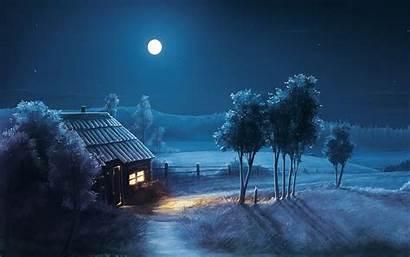 Moon Desktop Night Wallpapers Backgrounds Sky Cool