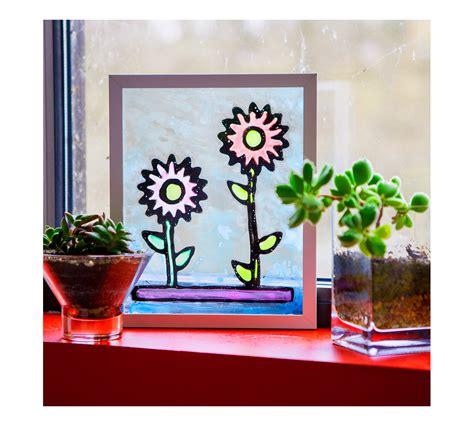 diy stained glass kit craft supplies crayolacom crayola