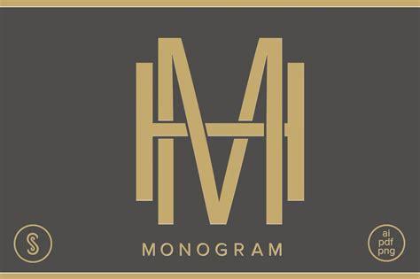 hm monogram mh monogram logo templates creative market