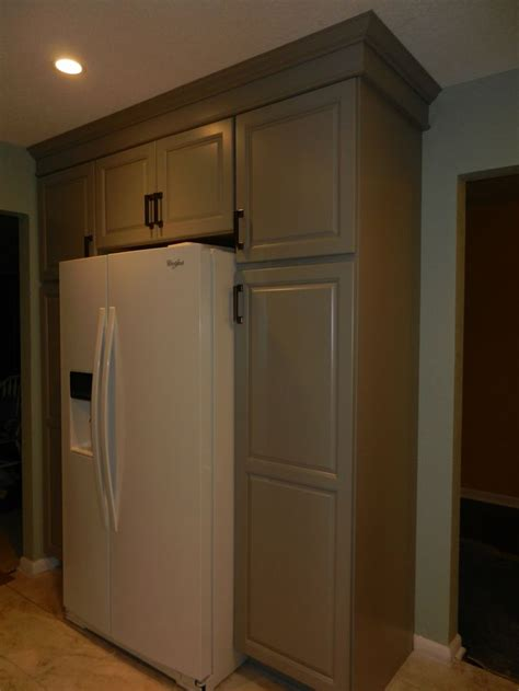crown molding  refrigerator cabinets