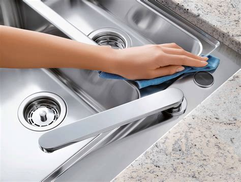 how do you clean a stainless steel kitchen sink how to clean stainless steel household objects 9866
