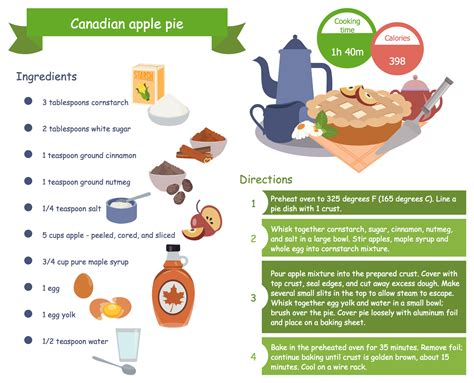 cooking recipe cooking recipes solution conceptdraw com