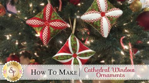shabby fabrics ornament how to make a cathedral window ornament a shabby fabrics christmas sewing tutorial viyoutube