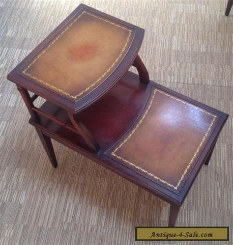 antique table ls for sale vintage imperial mahogany leather top side end table for