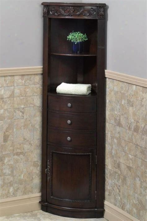 corner bathroom storage cabinet rustic bathroom wall
