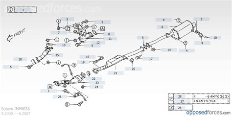 2001 Subaru Forester Exhaust System Diagram by Sti Exhaust System Diagram W Part S 2005 Nasioc