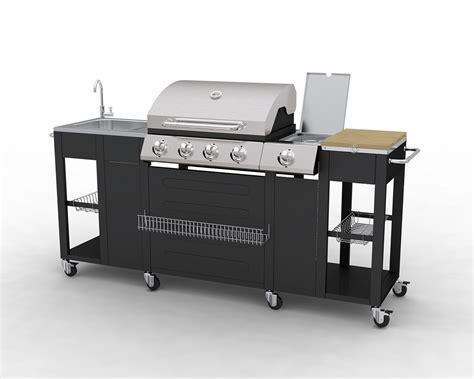 cuisine exterieur inox barbecue complet inox avec 233 vier et plan de travail