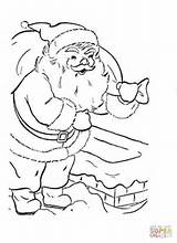 Santa Coloring Pages Christmas Claus Presents Face Printable Clause Gift Reindeer Fox Sleigh Gifts Santas Present Supercoloring sketch template