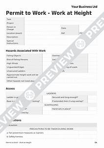 work at height permit to work template haspod With working at height permit to work template