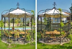 Metall Pavillon Mit Dach : pavillon aus metall runder nostalgischer pavillon tobie ~ Sanjose-hotels-ca.com Haus und Dekorationen