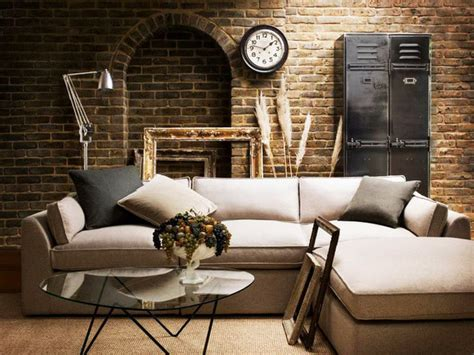 Interior Design For Living Room Usa by Living Spaces Industrial Living Room New York By