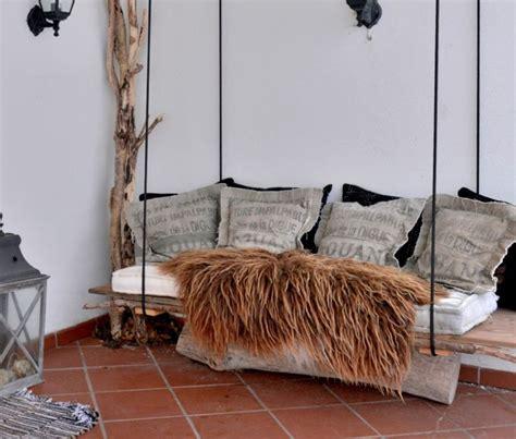 canapé suspendu décoration en bois 32 idées de réutiliser un tronc d 39 arbre