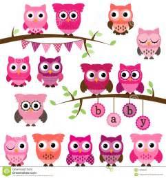 Girl Baby Shower Owl Clip Art