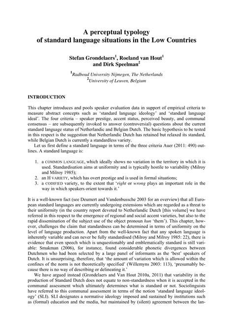 (PDF) A perceptual typology of standard language