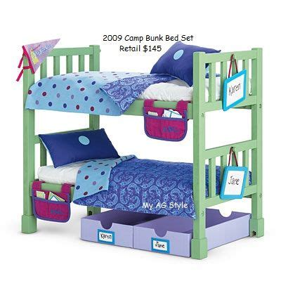 american girl doll camp bunk bed set furniture