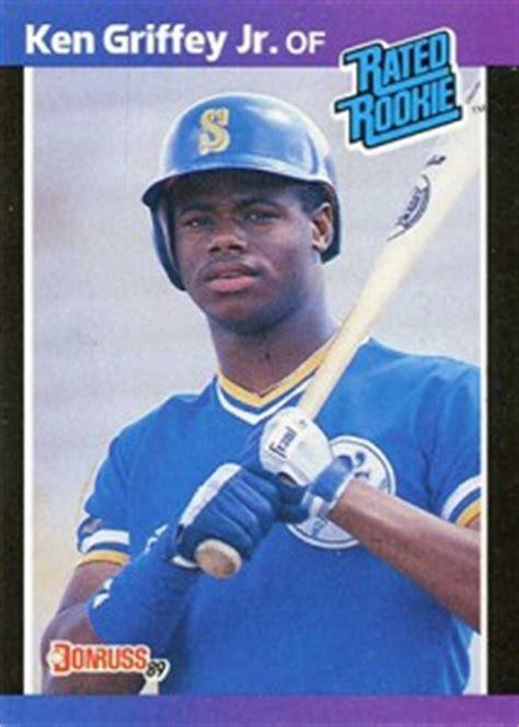 1989 deck ken griffey jr error 1989 donruss baseball checklist set info boxes more