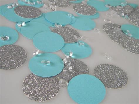 turquoise and silver decorations silver glitter aqua turquoise blue confetti decorations with optional faux diamonds 2224020