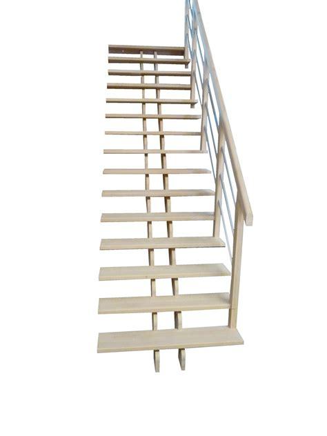 escalier droit epure balustres aluminium horizontales