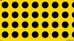 Wallpaper spots dots polka black yellow #ffd700 #000000 ...