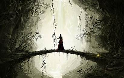 Anime Artistic Alone Dark Wallpapers Background Backgrounds