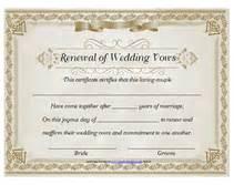 free printable renewal of wedding vows certificates templates - Renewing Wedding Vows