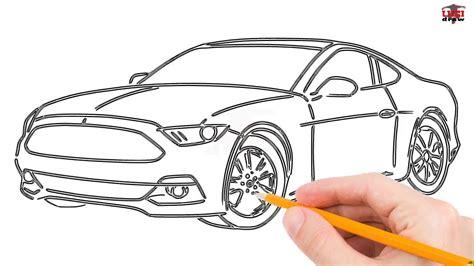 draw  mustang car step  step easy  beginners