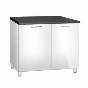 Meuble Sous Evier 120 : meuble de cuisine bas sous evier de 120 cm tara avec pieds ~ Nature-et-papiers.com Idées de Décoration