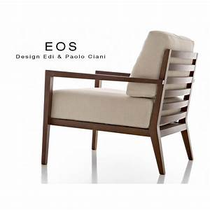 Fauteuil Salon Design : fauteuil pour salon lounge h tellerie eos structure bois 4 pieds assise et dossier garnis ~ Teatrodelosmanantiales.com Idées de Décoration