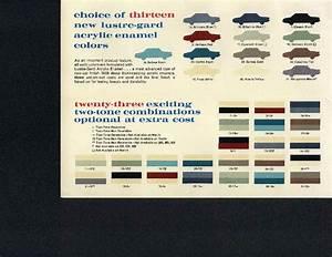 Dupont Imron Marine Paint Color Chart Amc Paint Charts 1954 1988