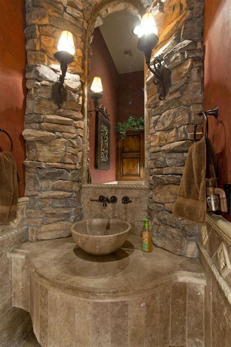 custom home builders  phoenix az rustic bathroom