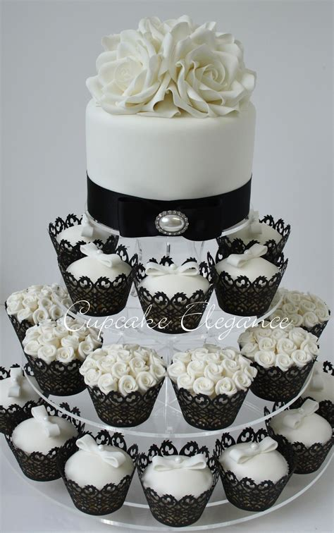 black  white cupcakes  dream wedding pinterest