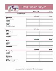 free printable budget worksheets With event planning organizer template