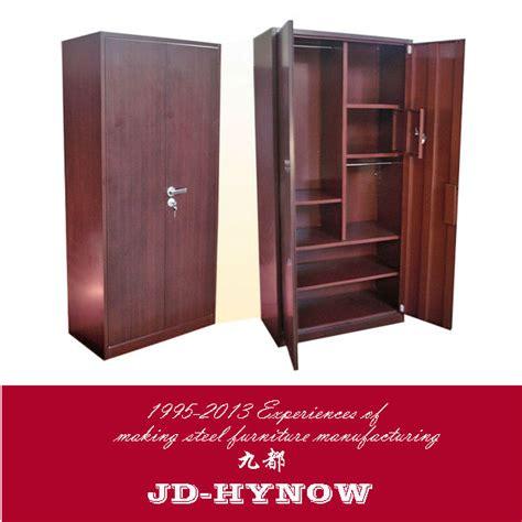 Metal Cupboard Designs by Two Door Wooden Color Steel Bedroom Wardrobe Metal Folding