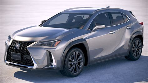 lexus ux  model turbosquid