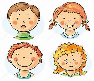 Rostros de niños Archivo Imágenes Vectoriales © Katerina Dav #56054889