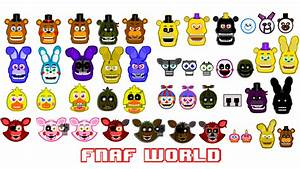 FNAF World All characters by hookls on DeviantArt