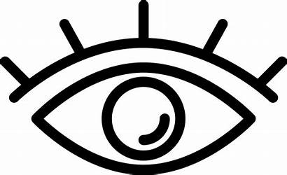 Eye Icon Lashes Svg Clipart Outline Transparent