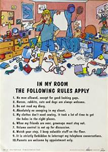 In My Room Rules Comedy Hardboards Wall Decor