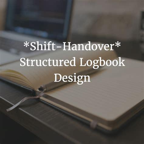 shift handover structured logbook design yokogawa advanced solutions