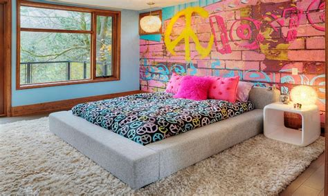 fashion bedroom decor teen girl bedroom wall graffiti