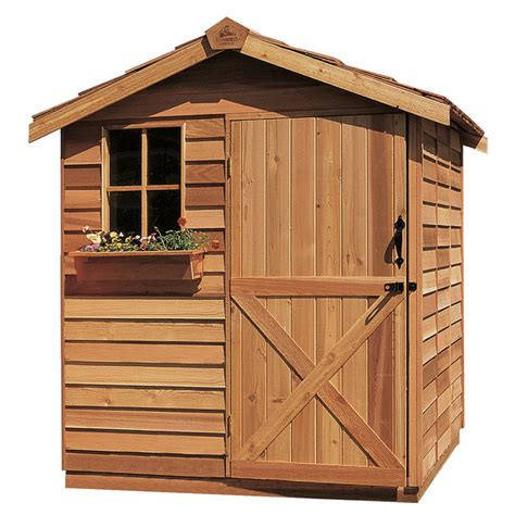 6 X 8 Wood Storage Shed by Shop Cedarshed Common 6 Ft X 9 Ft Interior Dimensions