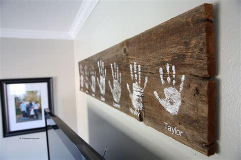 diy handprint wall sign  idea room