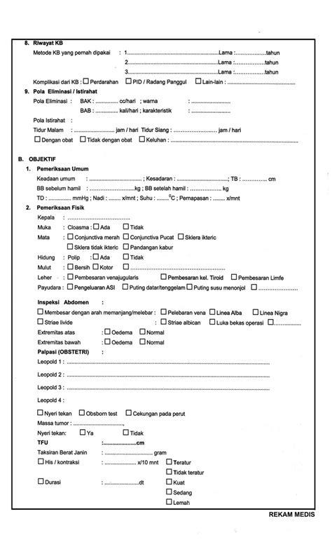 Form Resume Medis by Contoh Format Rekam Medis Kebidanan Assesmen Khusus Kebidanan Ebook S Yuflihul Khair