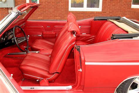 chevelle bucket seat interior