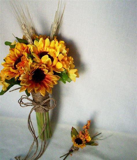 bridal party accessories wedding bouquet sunflower cheap