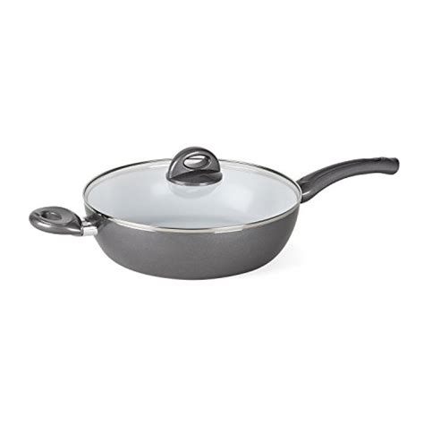 deep saute pan pans bialetti inch covered aeternum easy frying silver coolest