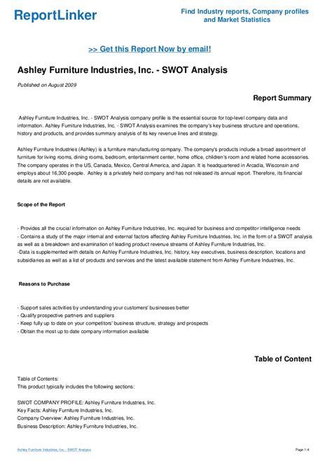 Ashley Furniture Industries, Inc. - SWOT Analysis