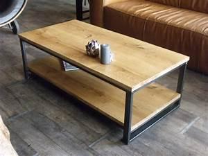 Console Fer Et Bois : table basse fer bois console basse maisonjoffrois ~ Teatrodelosmanantiales.com Idées de Décoration