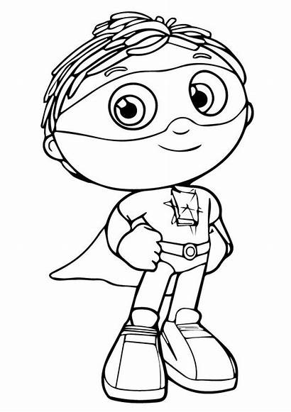 Coloring Super Why Pages Printable Sheets Colouring